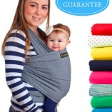 4-in-1-CuddleBug-Baby-Wrap-Carrier-Soft-Baby-Carrier-Baby-Sling-Carrier-Postpartum-Belt-Nursing-Cover-Best-Baby-Shower-Gift-Grey-0