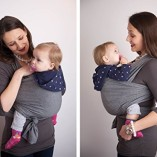 4-in-1-CuddleBug-Baby-Wrap-Carrier-Soft-Baby-Carrier-Baby-Sling-Carrier-Postpartum-Belt-Nursing-Cover-Best-Baby-Shower-Gift-Grey-0-4