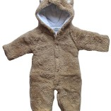 Baby-Todler-All-in-One-Snowsuit-Jacke-Fleece-Romper-Outfit-Coat-Snowsuit-Available-in-White-Pink-and-Brown-18-24-months-Tag-95-Brown-0-0