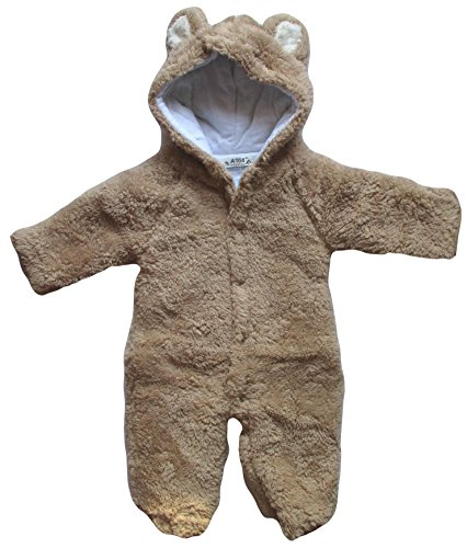 b6993e079c2b Baby Todler All in One Snowsuit Jacke Fleece Romper Outfit Coat ...