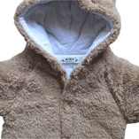Baby-Todler-All-in-One-Snowsuit-Jacke-Fleece-Romper-Outfit-Coat-Snowsuit-Available-in-White-Pink-and-Brown-18-24-months-Tag-95-Brown-0