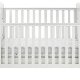 Babymore-Eva-Sleigh-Cot-Bed-Dropside-with-Drawer-White-Finish-FOAM-MATTRESS-0-2