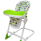 Bebe-Style-Modern-HiLo-Adjustable-Recline-Highchair-Green-0-1