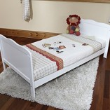 Cot-Bed-Sprung-Mattress-w-Cot-Top-Changer-Teething-Rails-White-0-0