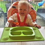 EasyMat-Kids-Placemat-Divided-Suction-Plate-In-One-with-Spoon-No-Mess-Toddler-Baby-Happy-Face-Feeding-Set-Suction-Bowl-Sectional-Baby-Plate-From-Baby-Led-Weaning-Age-6-Month-by-Tots-R-Us-0
