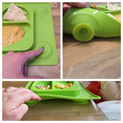 Easymat Kids Placemat Amp Divided Suction Plate In One With