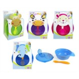 First-Steps-Travel-Feeding-Bowl-and-Spoon-Set-Purple-0