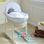 Full-Set-White-Wicker-Moses-Basket-With-Mattress-Cover-and-Rocking-Stand-by-MCC-0