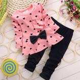 Koly-Newborn-Baby-Clothing-Sets-Long-Sleeved-Heart-shaped-Print-Bow-Cute-2PCS-Kids-Set-T-shirt-Pants-90-0-6-Months-Pink-0-0