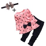 Koly-Newborn-Baby-Clothing-Sets-Long-Sleeved-Heart-shaped-Print-Bow-Cute-2PCS-Kids-Set-T-shirt-Pants-90-0-6-Months-Pink-0