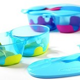 ON-THE-GO-Travel-Baby-Feeding-Bowl-Set-with-Lid-Pink-Colour-0-0
