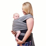 Premium-Baby-Carrier-Neutral-Grey-One-Size-Fits-All-Cozy-Soothing-For-Babies-Suitable-for-Newborns-Infants-Toddlers-CottonSpandex-Comfort-Fabric-100-Infinity-Guarantee-Ideal-Gift-0-0