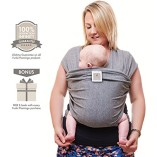 Premium-Baby-Carrier-Neutral-Grey-One-Size-Fits-All-Cozy-Soothing-For-Babies-Suitable-for-Newborns-Infants-Toddlers-CottonSpandex-Comfort-Fabric-100-Infinity-Guarantee-Ideal-Gift-0