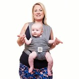 Premium-Baby-Carrier-Neutral-Grey-One-Size-Fits-All-Cozy-Soothing-For-Babies-Suitable-for-Newborns-Infants-Toddlers-CottonSpandex-Comfort-Fabric-100-Infinity-Guarantee-Ideal-Gift-0-2