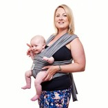 Premium-Baby-Carrier-Neutral-Grey-One-Size-Fits-All-Cozy-Soothing-For-Babies-Suitable-for-Newborns-Infants-Toddlers-CottonSpandex-Comfort-Fabric-100-Infinity-Guarantee-Ideal-Gift-0-4