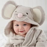 Scheppend-Baby-Boy-Girl-Cotton-Infant-Animal-Hooded-Bath-Beach-Towel-Bathrobe-Grey-0-1