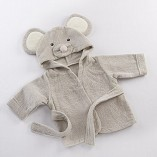 Scheppend-Baby-Boy-Girl-Cotton-Infant-Animal-Hooded-Bath-Beach-Towel-Bathrobe-Grey-0-2