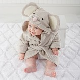 Scheppend-Baby-Boy-Girl-Cotton-Infant-Animal-Hooded-Bath-Beach-Towel-Bathrobe-Grey-0-3