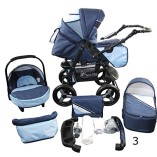 Stroller-Pram-Complete-with-Car-Seat-and-Carrycot-Bomo-3in1-set-V3-0