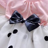 Toddler-Baby-Girls-Princess-Party-Bubble-Sleeve-Bowknot-Dot-Tulle-Dress-0-0