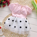 Toddler-Baby-Girls-Princess-Party-Bubble-Sleeve-Bowknot-Dot-Tulle-Dress-0-1