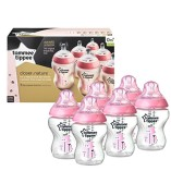 Tommee-Tippee-Closer-to-Nature-260-ml9fl-oz-Decorated-Feeding-Bottles-Pink6-pack-0-0