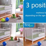 White-Solid-Wood-Baby-Cot-Bed-4-inch-Deluxe-Foam-Mattress–3-Position-Base-Heights–RRP190–FREE-UK-Delivery-0-2
