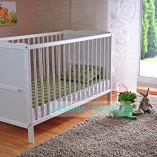 White-Solid-Wood-Baby-Cot-Bed-Deluxe-Foam-Mattress-Converts-into-a-Junior-Bed–3-Position–FREE-UK-Delivery-0-0
