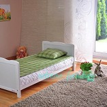White-Solid-Wood-Baby-Cot-Bed-Deluxe-Foam-Mattress-Converts-into-a-Junior-Bed–3-Position–FREE-UK-Delivery-0-1