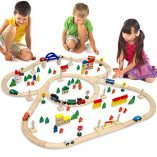 12075-Wooden-Train-Set-130-Pieces-More-than-5-m-of-Tracks-Compatible-with-Brio-Eichhorn-Ikea-Thomas-etc-0