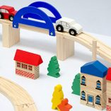 12075-Wooden-Train-Set-130-Pieces-More-than-5-m-of-Tracks-Compatible-with-Brio-Eichhorn-Ikea-Thomas-etc-0-5